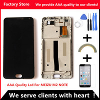 AAA Quality Original LCD Original Frame For MEIZU M2 Note Lcd Display Screen Replacement For MEIZU
