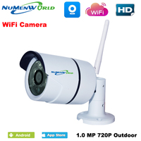 Wifi Ip Camera 720p HD Support Micro SD Card Waterproof CCTV Security Wireless Camara P2P Outdoor