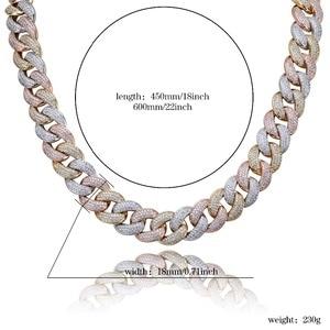 """Image 5 - Maimi cubana link corrente colar hip hop cor ouro dos homens iced para fora zircão cúbico colares jóias presentes 16 """" 30"""""""