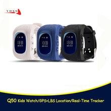 Q50 gps умный ребенок безопасный часы SOS вызова Расположение Finder трекер для ребенка анти потерял Remote Monitor Детские наручные часы pk T58