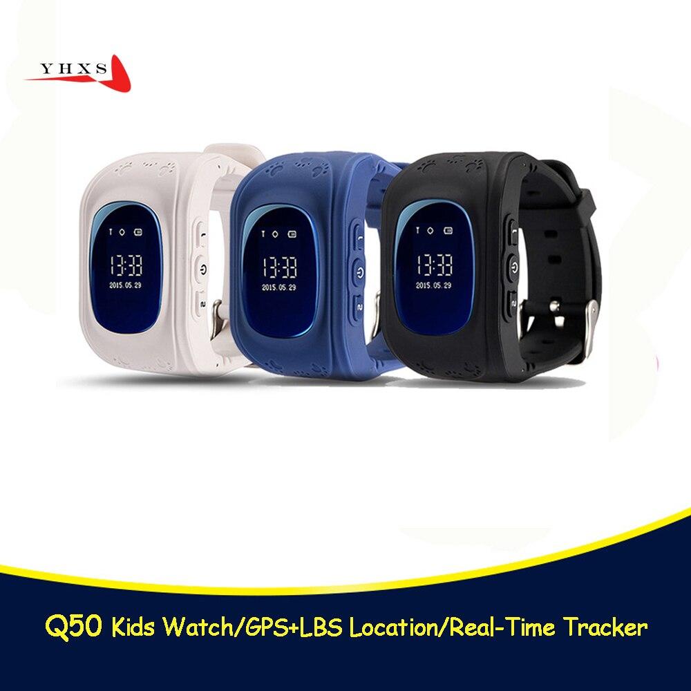 Q50 GPS Smart Kid Sicuro Orologio SOS di Chiamata Posizione Finder Locator Tracker per il Bambino Anti Perso A Distanza Monitor Del Bambino Orologio Da Polso pk T58