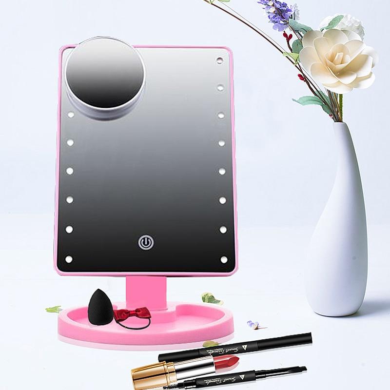 Kosmetische 3 Modi Led Make-up Spiegel Locking Helle Diffuses Licht Kosmetik Spiegel Make-up-tool Mit Musik Bluetooth Lautsprecher Schönheit & Gesundheit Schminkspiegel