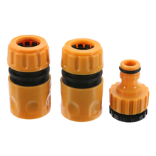 3pcs Quick Fast Coupling Adaptor Drip Tape Quick Tap Garden Water Connector Irrigation Hose Pipe Watering Irrigation Tools