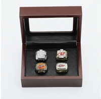 Gorgeous Ring Sets With Wooden Boxes Replica Ice Hockey Copper 4pcs Detroit Red Wings Sports Championship