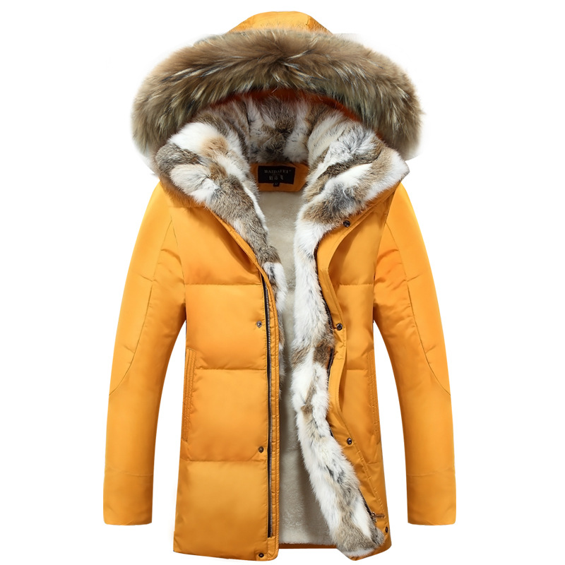 2017 winter Couples coat  dress jacket for men and women in the long Rabbit hair thick size Rex Rabbit Fur Winter Coat 2017 winter new clothes to overcome the coat of women in the long reed rabbit hair fur fur coat fox raccoon fur collar