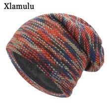 Xlamulu Knitted Hat Winter Hats For Women Men Skullies Beani