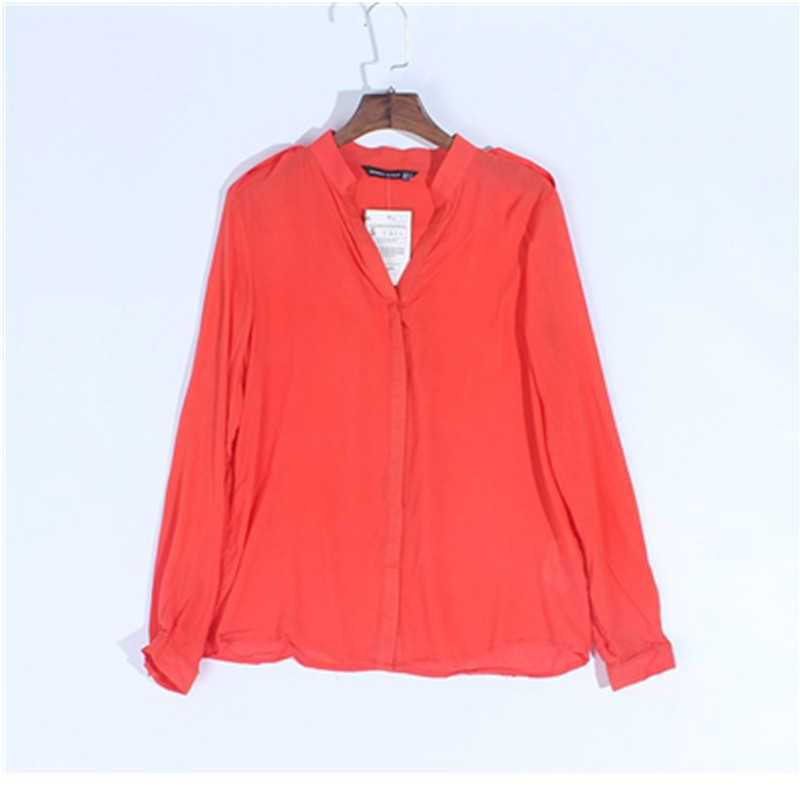 Spring Autumn New Fashion Casual Women New Long-Sleeved V-Neck Shirt Female Loose Shirt