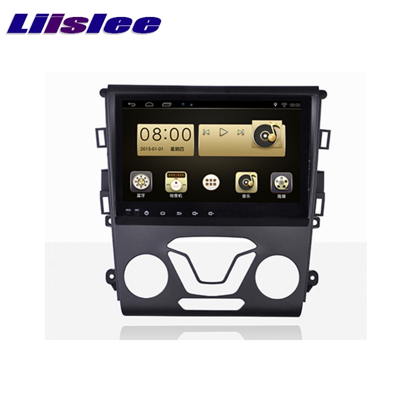 LiisLee Car Multimedia Player GPS Radio Navigation For Ford Fusion For Mondeo 2013~2017 Original Factory Style Audio NAVI liislee car multimedia player gps radio navigation for ford fusion for mondeo 2013 2017 original factory style audio navi