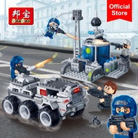 BanBao 6209 Building Blocks Super Police Center Base Car Educational Bricks Model Toy Children Kids Friend Compatible With Brand