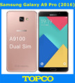 "Samsung Galaxy A9 Pro 2016 Duos Original Unlocked LTE Dual Sim Mobile Phone 6.0"" 16MP Samsung A9100 Octa Core RAM 4GB ROM 32GB"