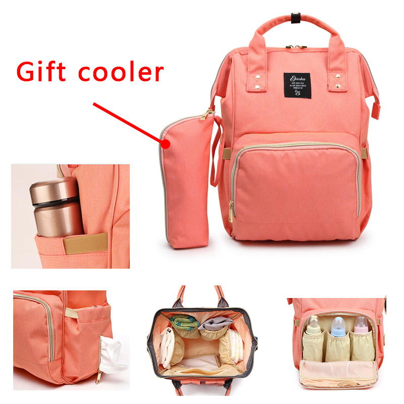 Fashion Mummy Maternity Diaper Bag Pure Color Men's Mummy Baby Care Nappy Bag Large Capacity Waterproof Business Backpack Travel