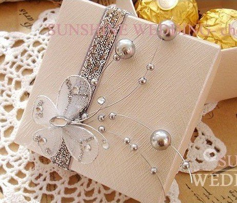 Holiday Wedding Gift Candy Box With Erfly Decoration Package Free Shipping
