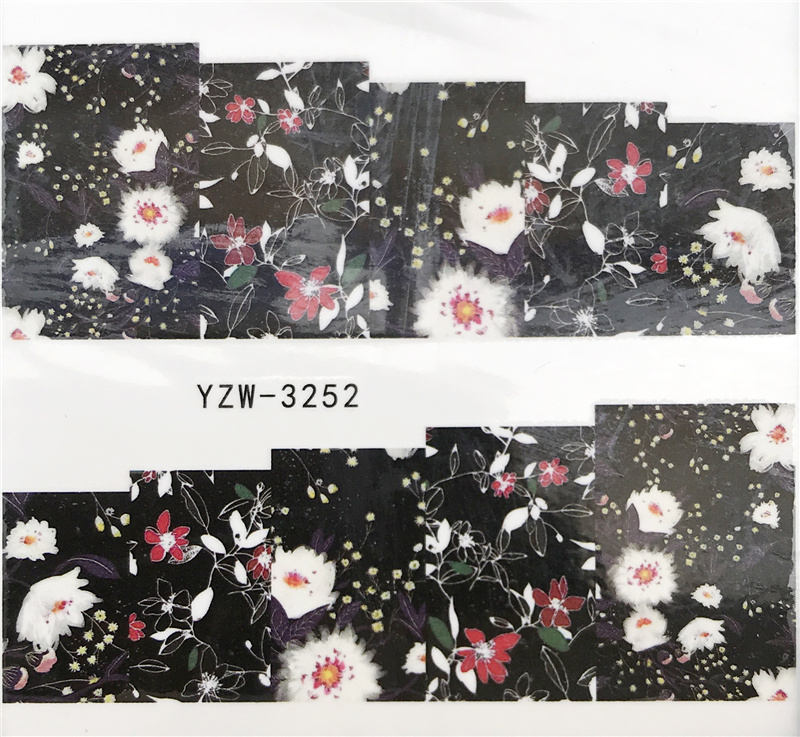 US $0 14 35% OFF|WUF 1 PC Leopard / Black Rose / Flower Water Transfer Nail  Art Sticker Beauty Decal Nails Art Decorations-in Stickers & Decals from