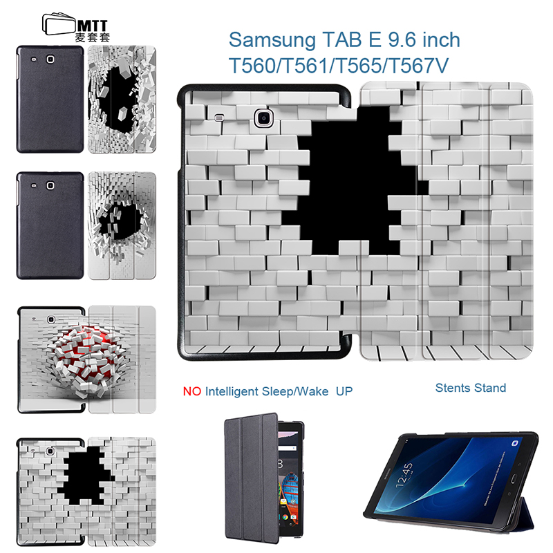 MTT Fashion Blasting wallhole Tablet Case For Samsung Galaxy Tab E 9.6 SM T560 T561 T565 Flip PU Leather Cover Stand Case funda bf luxury tablet case for samsung galaxy tab e 9 6 sm t560 sm t561 t560 t561 pu leather flip cute book stand cover protector