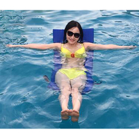 Adults Inflatable Chair Swimming Pool Floating Row Seat Water Mattress Beach Bed Boia Piscina Women Children