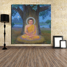 Buddha Awakening Canvas Painting Print Living Room Home Decor Modern Wall Art Oil Painting Poster Pictures Framework Accessories billie eilish fan art poster canvas painting print living room home decor modern wall art oil painting salon pictures framework