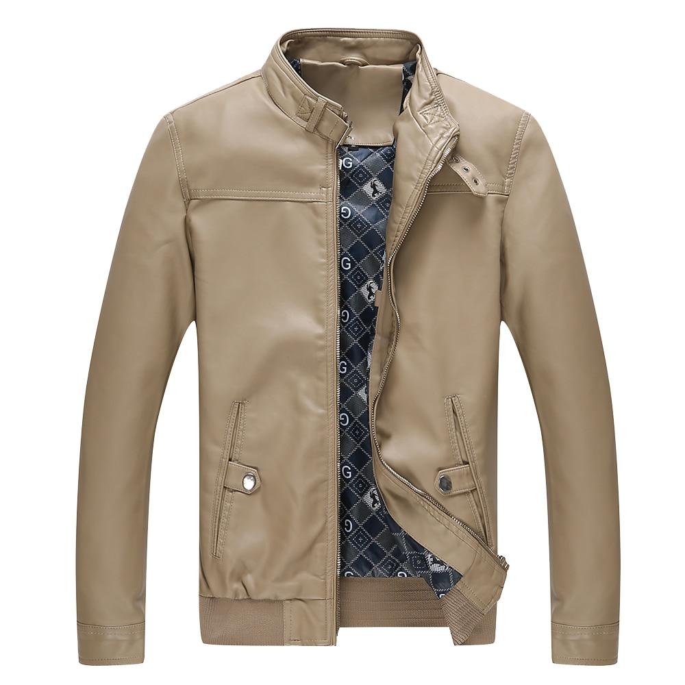 jaqueta de couro masculina moška usnjena jakna krznen srednjih let - Moška oblačila - Fotografija 3