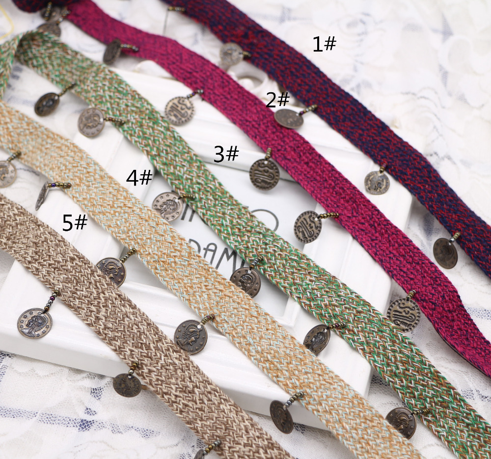 "3/"" Pearl Tassel Fringe Tassel Trim Fabric Trim      Antique Gold//Beige"