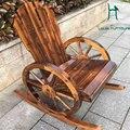 Cadeira lua cadeira de braço de madeira de boa qualidade decorado handwork para mobiliário de exterior