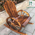 Moon chair wood arm chair good quality decorated handwork for outdoor furniture