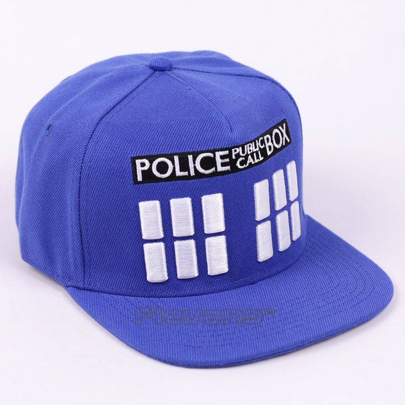 Doctor Who Police Box Hip-Hop Cap Fashion Casual Men Women Snapback Caps Letter Baseball Hat