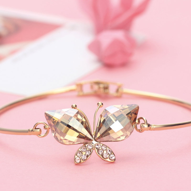 Neoglory Australia Crystal & Auden Rhinestone Bangle Lovely Butterfly - Նորաձև զարդեր - Լուսանկար 3