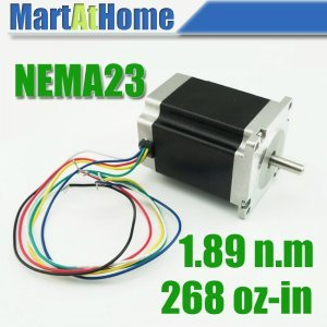 Free Shipping New CNC 76mm Hybrid Nema23 Stepper motor 3A 268oz-in 6 Leads #SM360 @CF free shipping nema23 425 oz in cnc stepper moto 3 0a cnc stepping motor 23hs2430