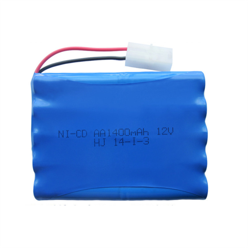1pc 12v battery 1400mah ni-cd 12v aa nicd batteries aa battery pack ni cd rechargeable for RC boat model car electric toys tank