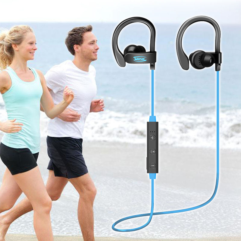 56S Wireless Bluetooth Earphone Sports Sweat Proof Stereo Earbuds Headset In-Ear Earphones with Mic for iPhone Android  hjcf b1 sports wireless bluetooth earphone wireless headset earbuds earphones with microphone in ear for iphone smartphones