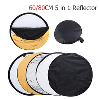 Ulanzi 5 In 1 Portable Collapsible Light Round Photography Reflector With Carrying Bag For Studio Disc