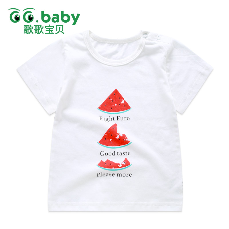 2017 Watermelon Tops Baby Boy Summer Tshirt Baby Girls Newborn Short Sleeve Cool Cotton Baby Clothes Boys Infant Cartoon T-shirt