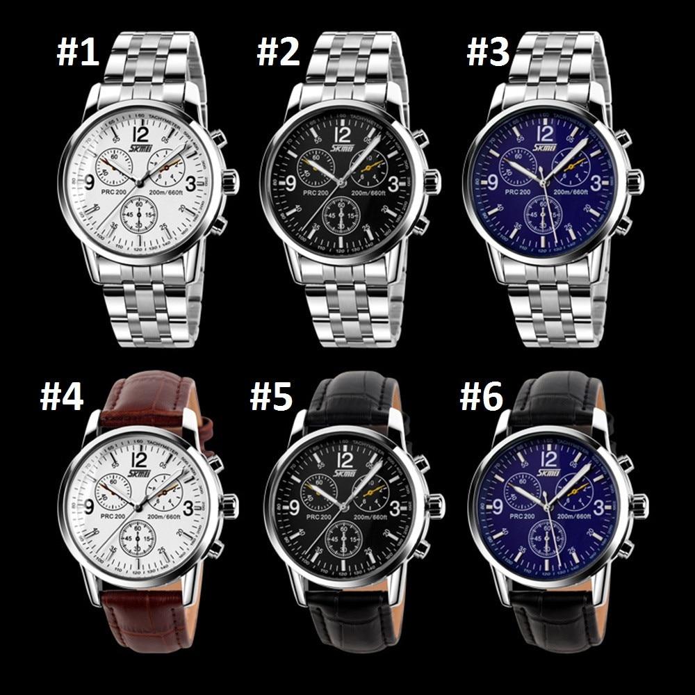 Skmei Strip Leather strap Watch Business Classic Retro Men s fashion Quartz