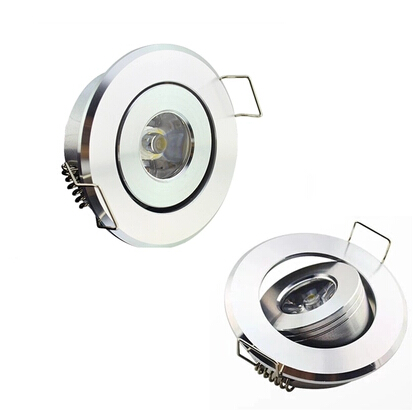 Hot sale ! High power 1W LED ceiling lamp Recessed light 85V-260V for home lighting warranty 3years CE ROHS R/G/B/WW/CWx10pcs
