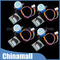 5V 28BYJ-48 DC Step Stepper Motor With ULN2003 Driver Board For Arduino 10PCS/LOT Free Shipping & Drop Shipping