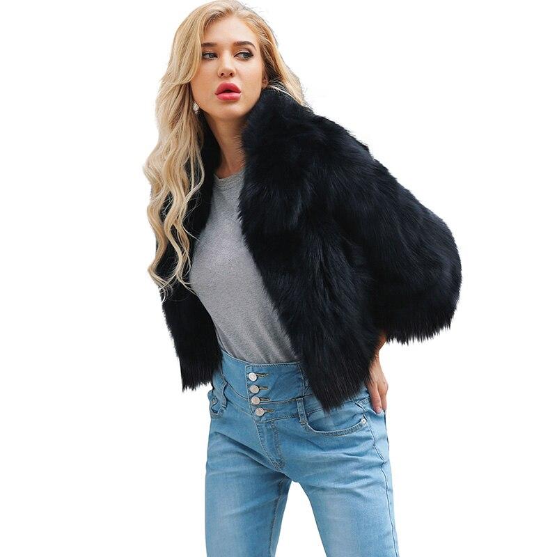 Luxus Langarm Faux Pelz Mäntel Winter Frauen Pelzigen Schlank Dicke Warme Jacke Dame Shaggy Mantel Outwear Chaqueta Pelo Mujer 6Q2153