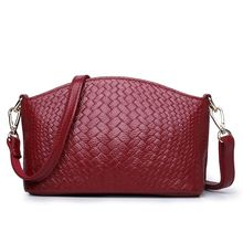 free shipping new fashion brand women's shell single shoulder bag ladies crossbody bag 100% genuine leather cow leather knitting