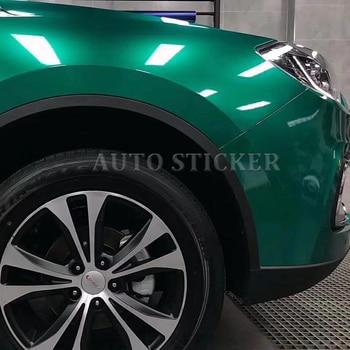 1.52*20M Highlight Metal car vinyl wraps emerald full wrap car vinyl wraps super gloss green vinyl Ocean Green wraps