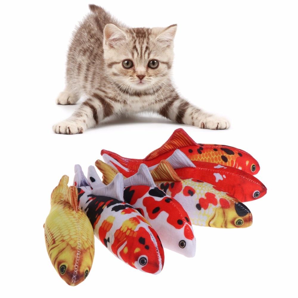 1Pc 30cm/60cm Cat Toys Simulation Fish Toy Carp Stuffed Catnip Removable Funny Interactive Chew Pillow Pet Supplies 6 Colors C42