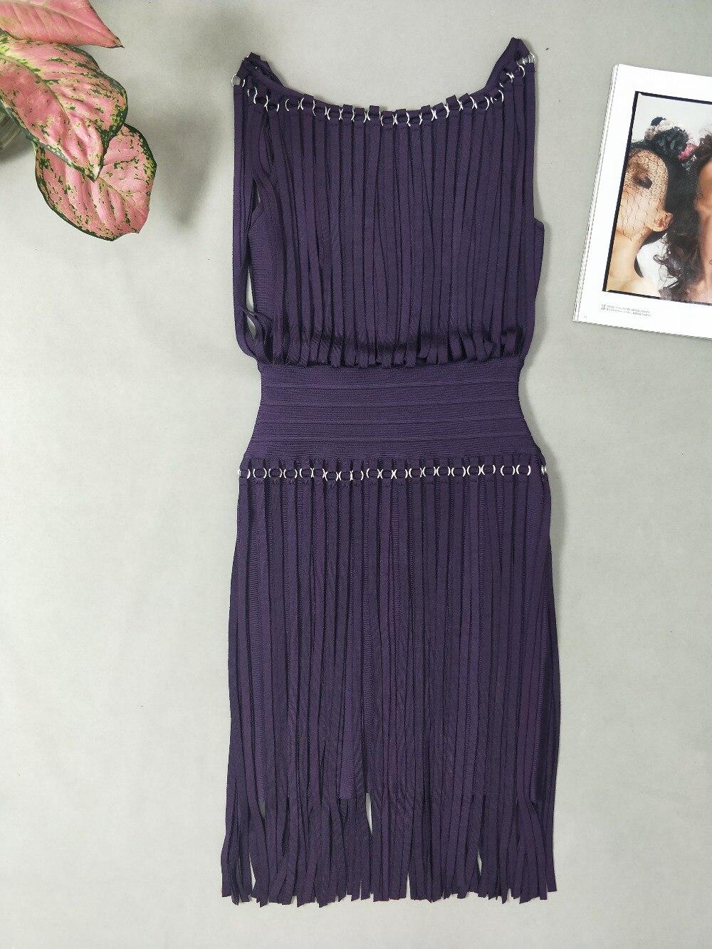 Gland Haute Mode 2019 Robe Qualité Designer Bandage Noir De Sexy pourpre Celebrity rEnrpaC7qw