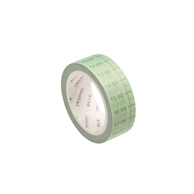 1 PC Week Date Plan List Label Adhesive Tape 24 Hours Planner DIY Diary Schedule Agenda Memo Scrapbooking School Office Supplies