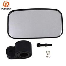 POSSBAY 1 Set UTV Motorcycle Mirror Rear View Accessories Parts With Mounting Clamps Universal Scooters Side Mirrors for