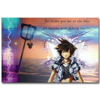 Kingdom Hearts 1 2 3 Art Silk Fabric Poster Print 13x20 24x36inch Hot Game Pictures for Children Room Wall Decoration Gift 042