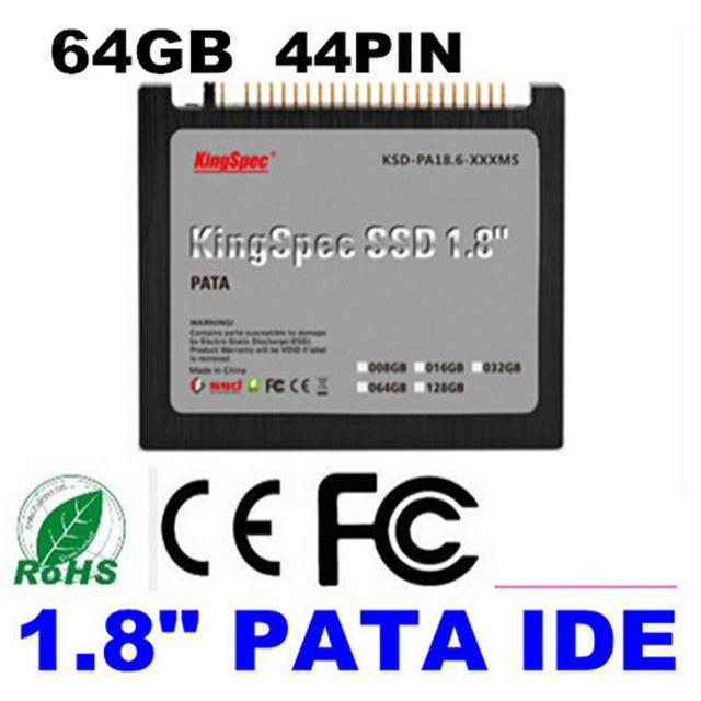 """Venta del envío libre kingspec 1.8 """"44pin ide pata ssd de 64 gb de disco duro de estado sólido para el ordenador portátil diy ibm thinkpad x40 x41 x41t tablet"""