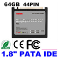 "free shipping Sale Kingspec 1.8"" IDE 44pin PATA SSD 64GB Solid State hard disk for  laptop DIY IBM ThinkPad X40 X41 X41T Tablet"
