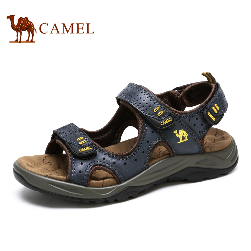 Camel men 's shoes 2017 spring and summer outdoor outdoor leisure fashion cowhide leather mesh sandals A622344207 профессиональный проигрыватель apart pc1000rmkii black