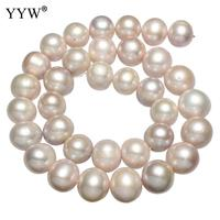 Grade AAA 12 13mm Purple Cultured Round Freshwater Pearl Natural Stone Beads For DIY Necklace Bracelet Jewelry Making 16