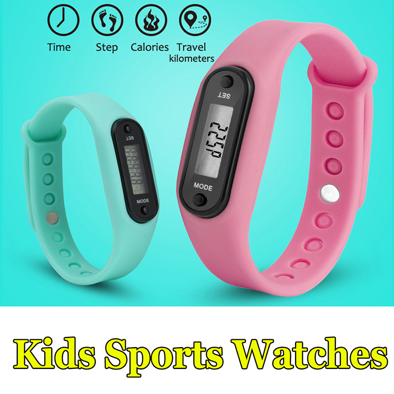 Children's Watches Buy Cheap New Digital Lcd Pedometer Run Step Walking Distance Calorie Counter Watch Bracelet Silicone Wristband For Children Kids
