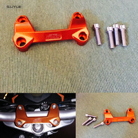 free shipping Orange Motorcycle CNC Aluminum Handlebar Risers Top Cover Clamp Fit For KTM DUKE 390 200 125 Dirt Bike