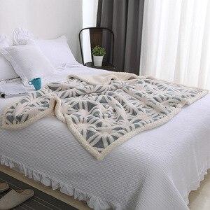 Image 2 - Super macio coral velo sherpa cobertor sofá xadrez cor azul rosa vison lance primavera viagem portátil cobertor único tamanho cobertores