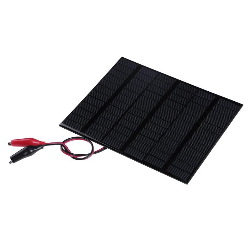 ALLOYSEED 3.5W 18V Epoxy Solar Panel Solar Cell Module Battery Charger Board + Clip Solar cell Charger for advertising lights